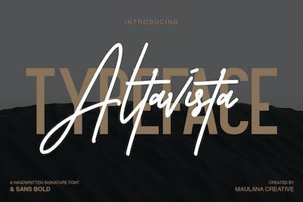 Altavista Font Duo Negro