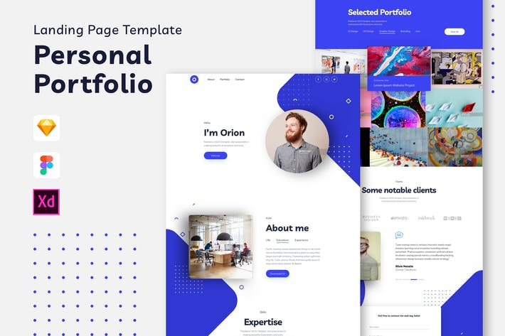 Thumbnail for Personal Portfolio Landing Page Template