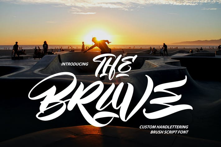Thumbnail for The Brave | Script Pincel Handlettering personalizado