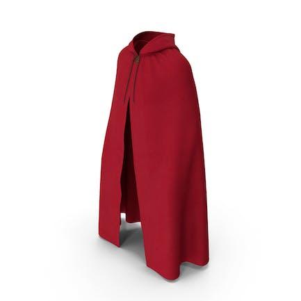 Unisex-Umhang mit Kapuze, Rot