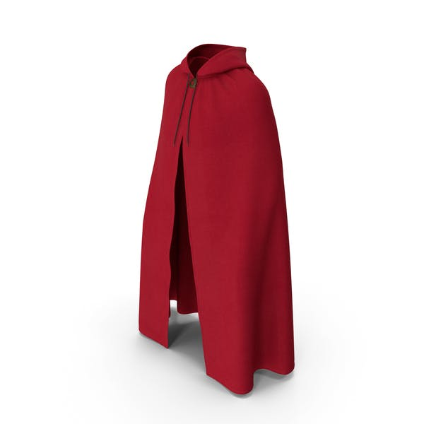 Unisex Red Cloak with Hood