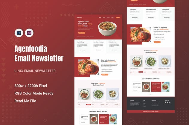 Agenfoodina Email Newsletter