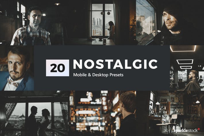 Thumbnail for 20 Nostalgic Lightroom Presets & LUTs