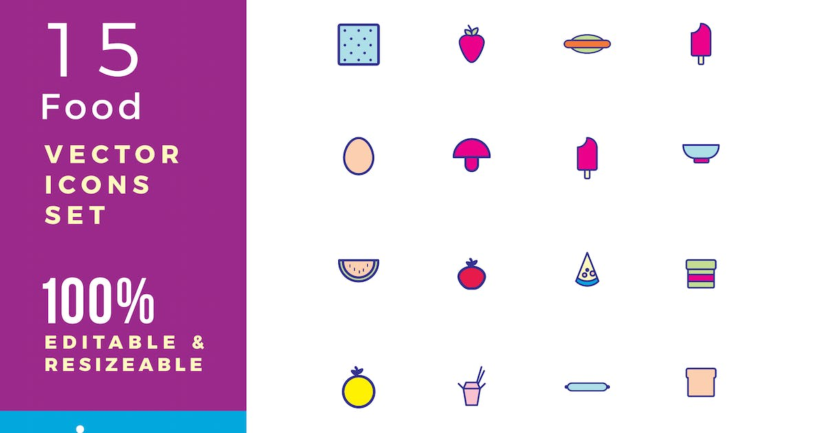 Download 15 Food vector icons by Unknow