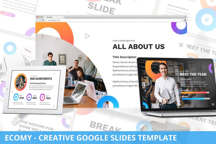 Thumbnail for Ecomy - Creative Google Slides Template