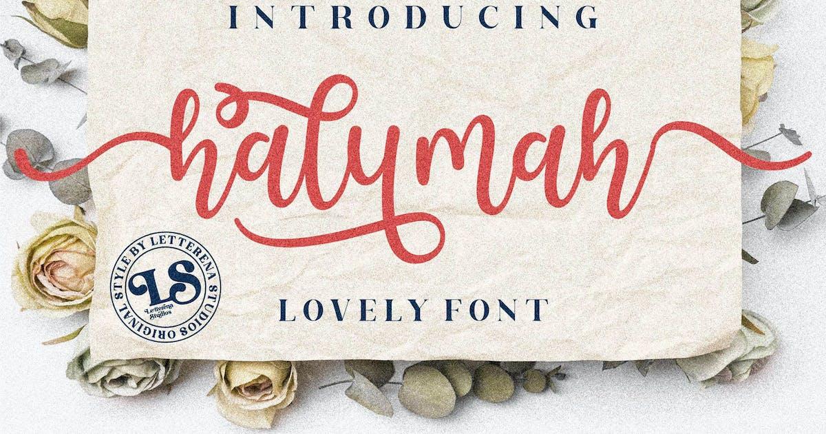 Download Halymah Script Font LS by GranzCreative