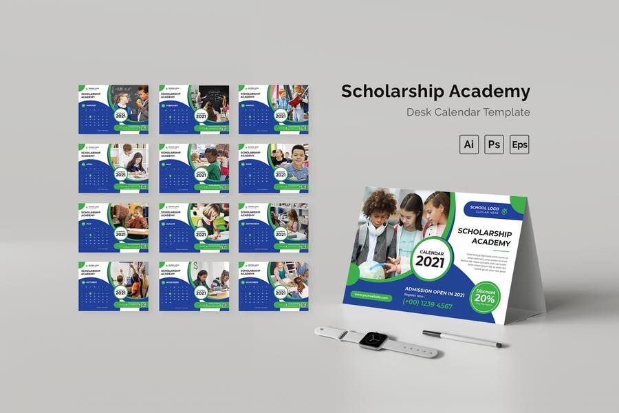 Scholarship Academy Desk Calendar