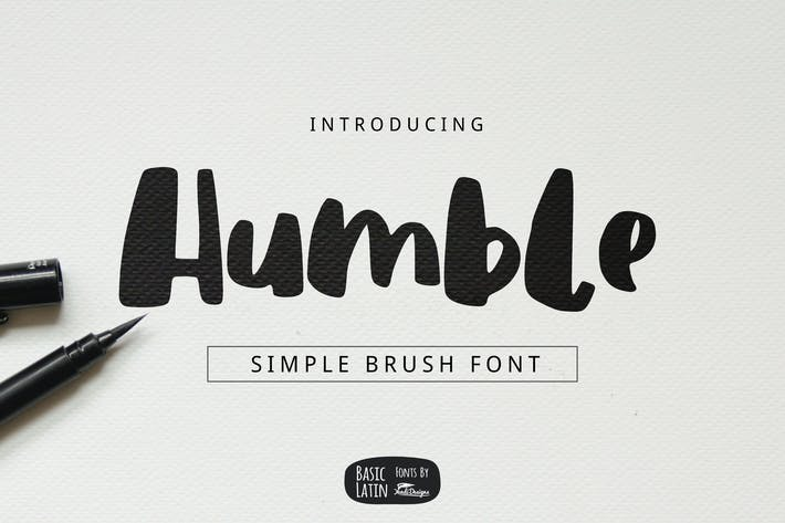 Thumbnail for Humble Brush Font