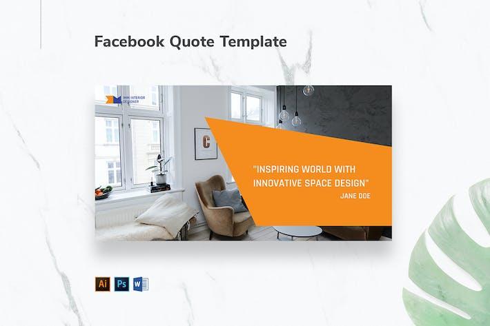 Thumbnail for Interior Designer Firm Facebook Quote