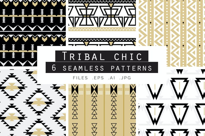 Thumbnail for Tribal Chic Seamless Vector Patterns