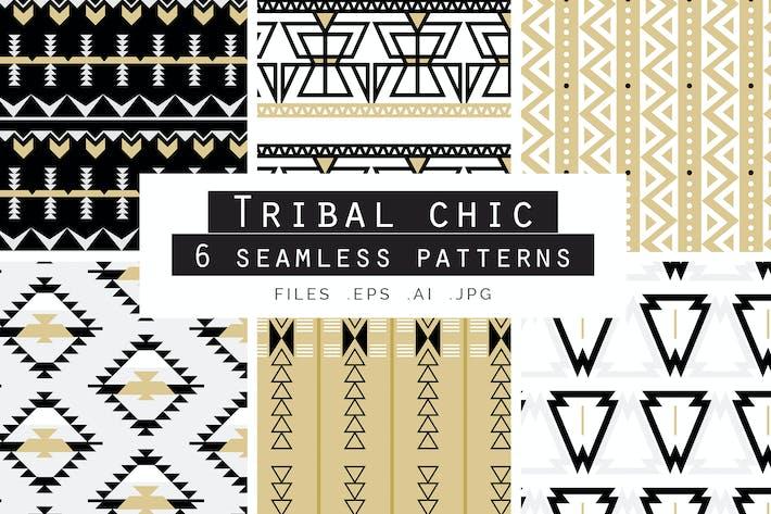 Cover Image For Tribal Chic Vecteur sans couture