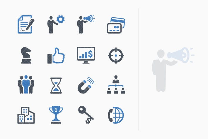 Thumbnail for Business Icons Set 2 - Blue Series