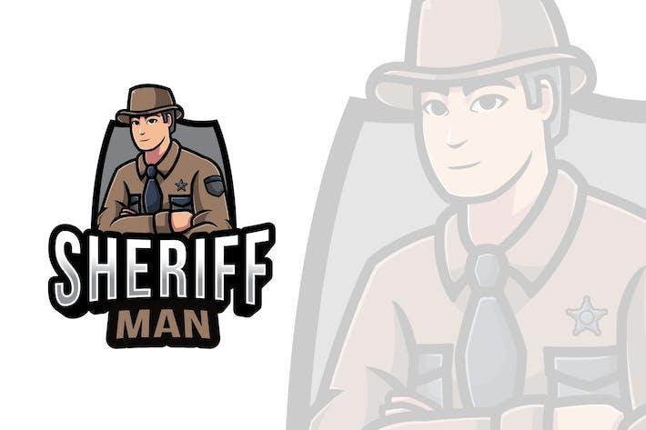 Thumbnail for Sheriff Man Logovorlage