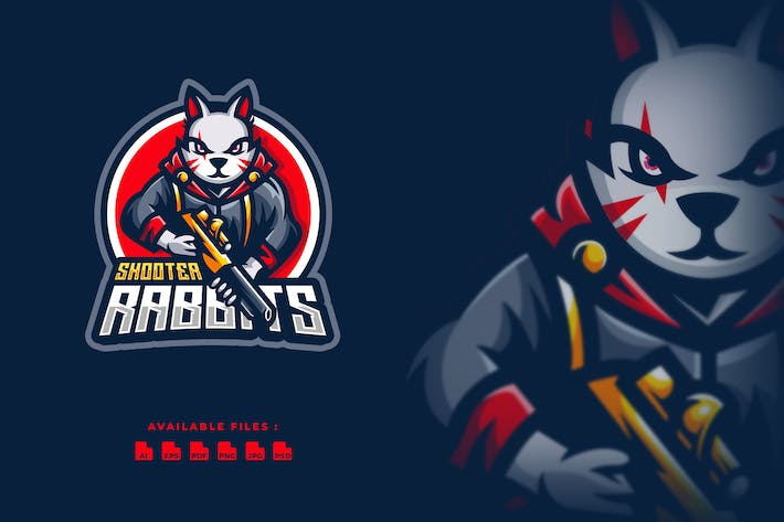 Thumbnail for Shooter Rabbit Sport and Esport Logo