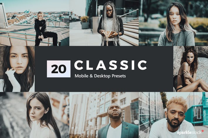 Thumbnail for 20 Classic Lightroom Presets and LUTs