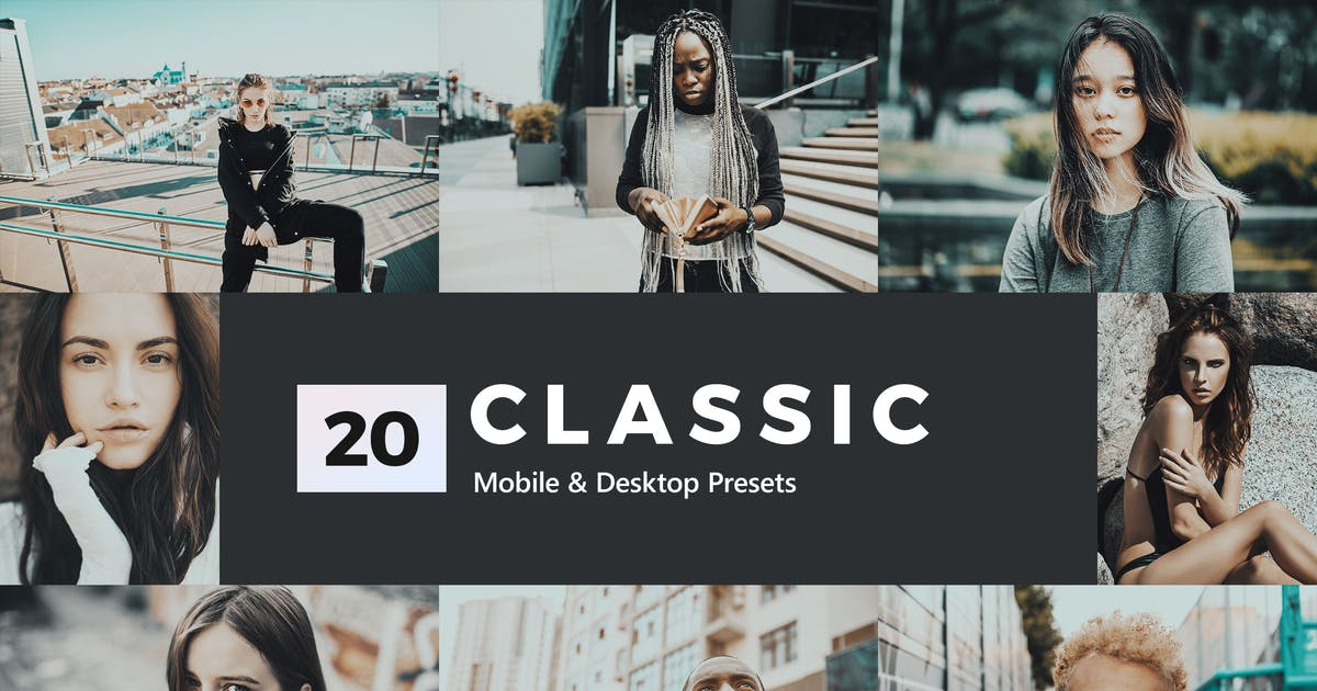 Download 20 Classic Lightroom Presets and LUTs by sparklestock