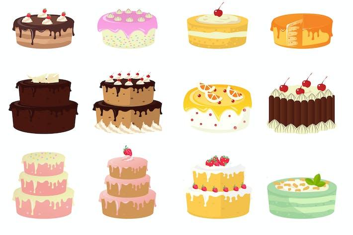 Thumbnail for Ilustración de pastel de cumpleaños