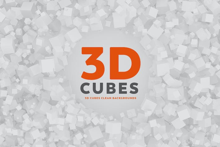 Cover Image For 3D Cubes Clean Backgrounds