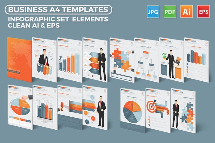 Thumbnail for Business Infographics Elements Design