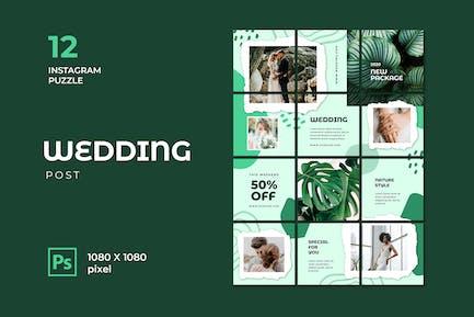 Instagram Puzzle Wedding