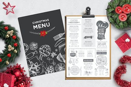 Christmas Menu Restaurant Template