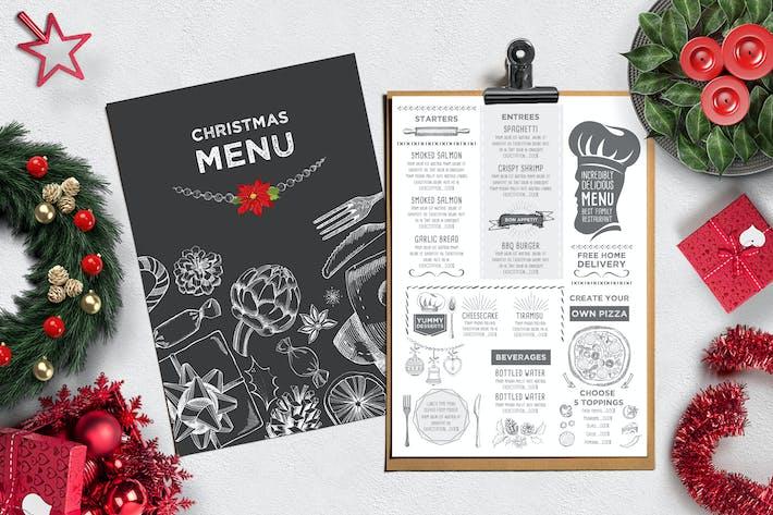 Thumbnail for Christmas Menu Restaurant Template