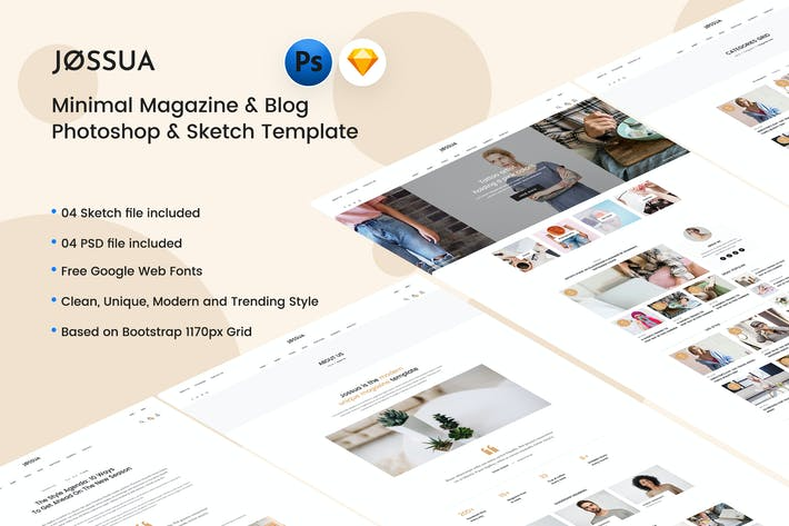 Thumbnail for JOSSUA - Minimal Blog & Magazine Template