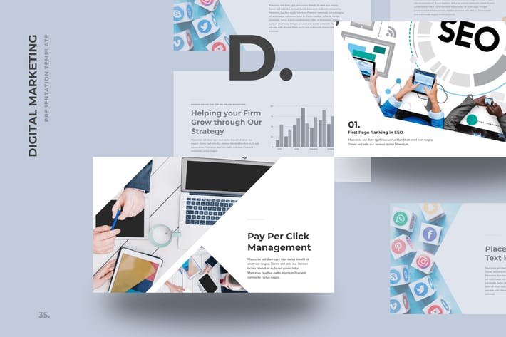 Thumbnail for DMZ - Digital Marketing PowerPoint Templates