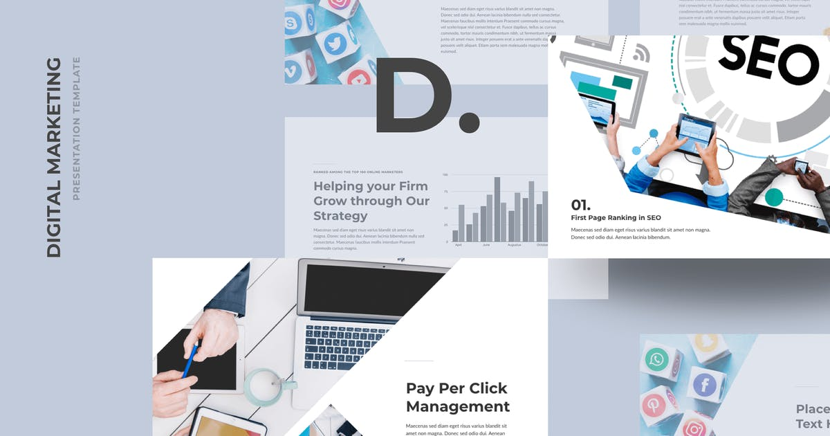 Download DMZ - Digital Marketing PowerPoint Templates by deTheme