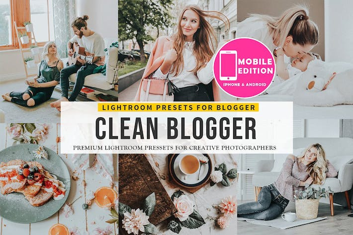 Thumbnail for Clean blogger Lightroom presets