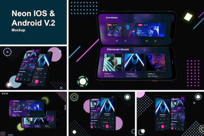 Neon IOS & Android Mockup V.2