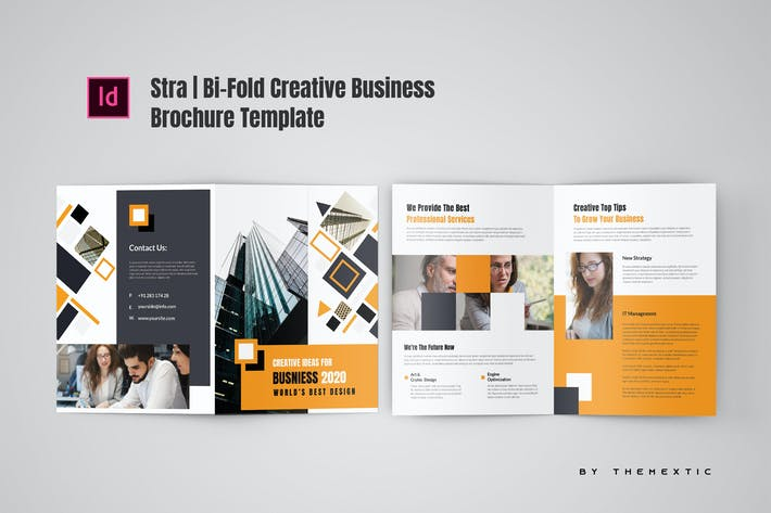 Thumbnail for Stra | Bi-Fold Creative Business Brochure Template