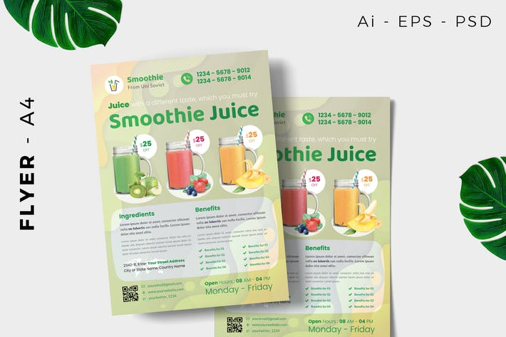 Thumbnail for Smoothie Juice dépliant