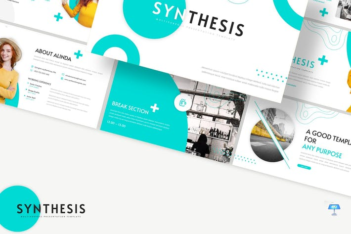 Thumbnail for Synthesis - Business Keynote Template