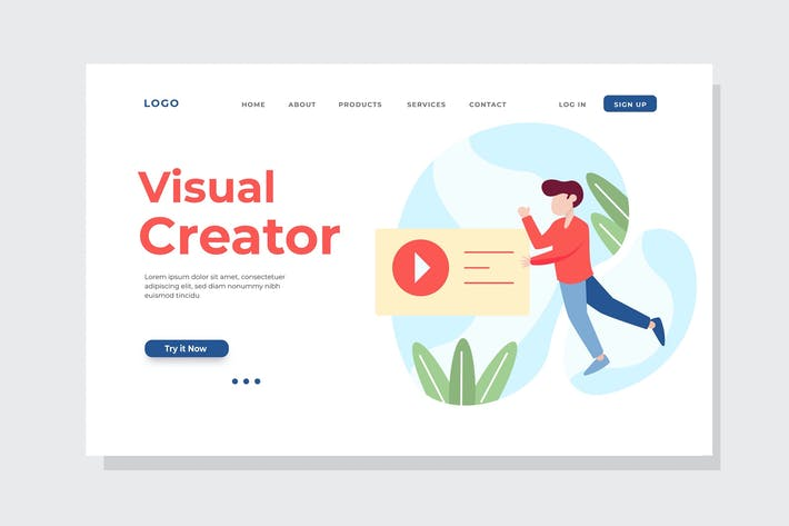 Visual Creator Landing Page Illustration