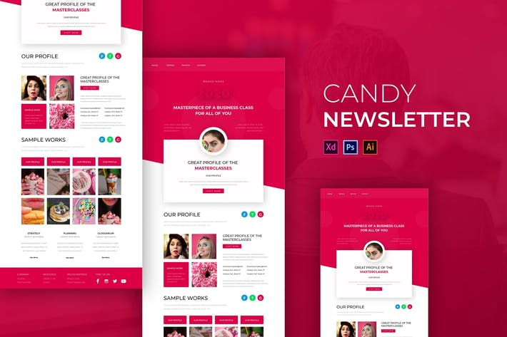 Thumbnail for Candy | Newsletter Template