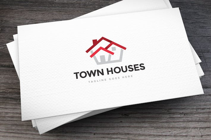 Thumbnail for Town Houses Logo Template