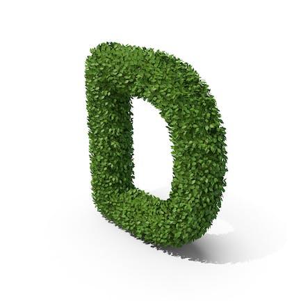 Letra en forma de seto d