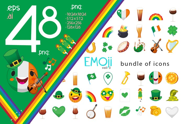Thumbnail for Saint Patrick Day Emoticons