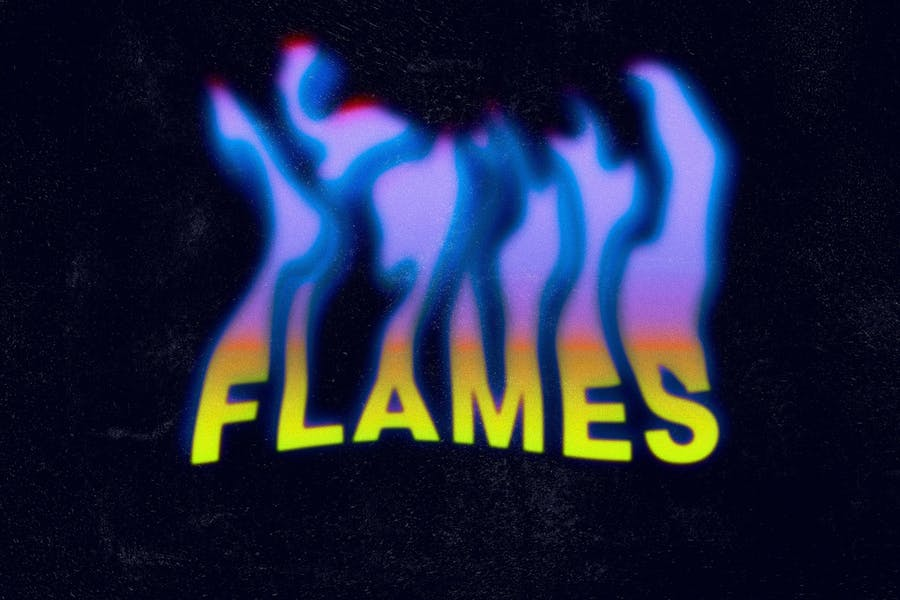 Toxic Flames Text Effect