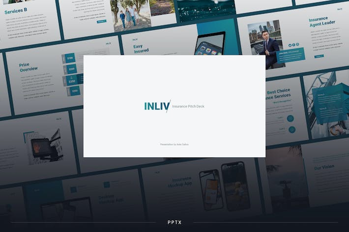 Thumbnail for Inliv - Insurance Theme Powerpoint Template