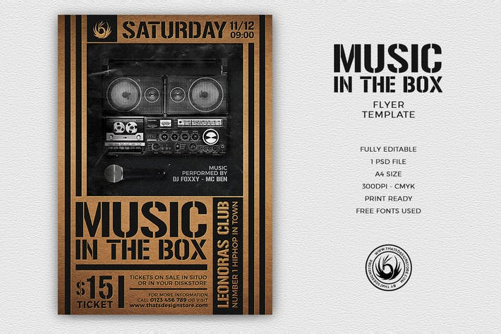 Thumbnail for Music in the Box Flyer Template