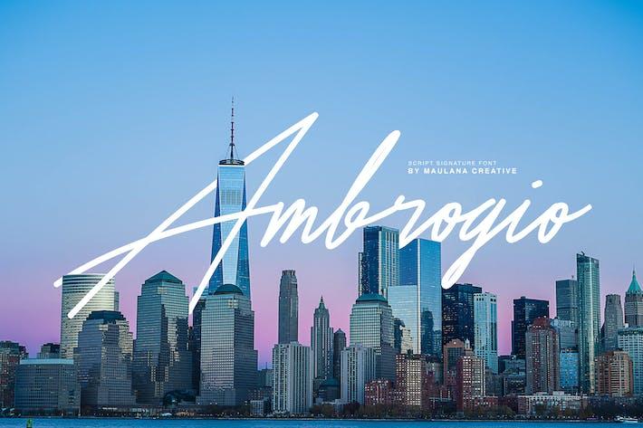 Thumbnail for Ambrogio Signature Font