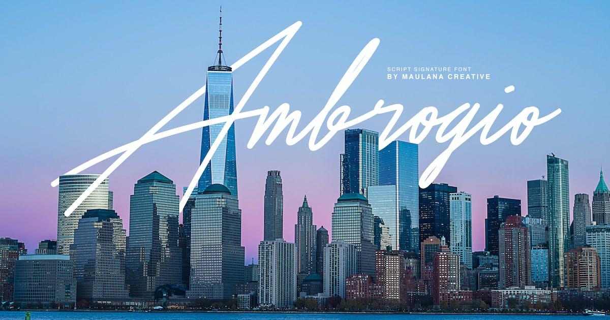 Download Ambrogio Signature Font by maulanacreative