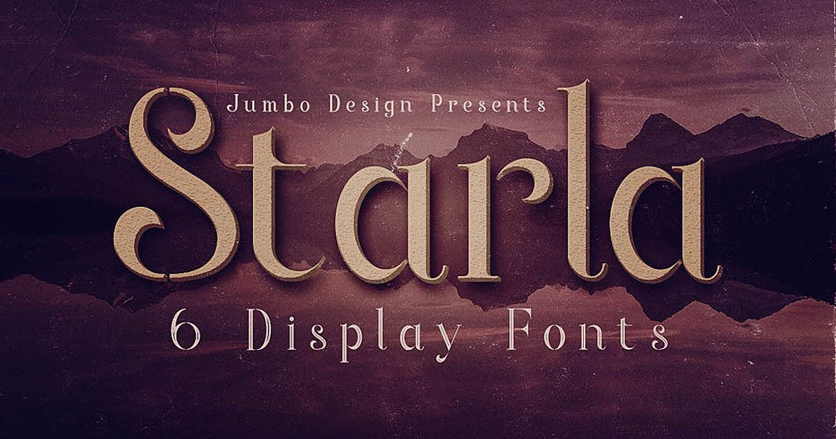 Download Starla - Display Font by cruzine