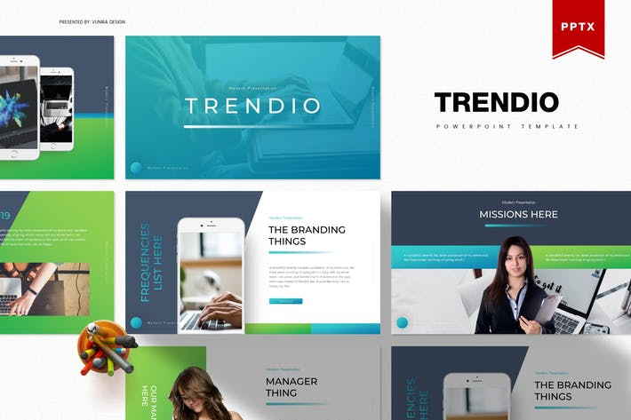 Thumbnail for Trendio | Powerpoint Template