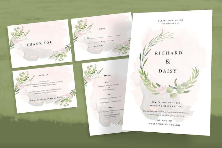 Thumbnail for Botanical Wedding Invitation Set