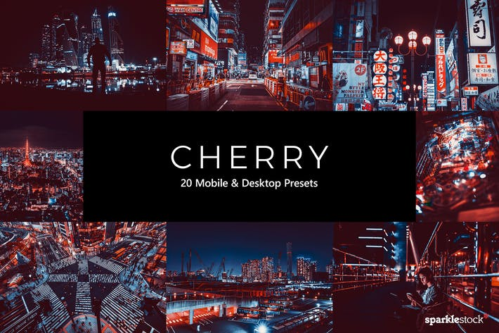 Thumbnail for 20 Cherry Lightroom Presets & LUTs