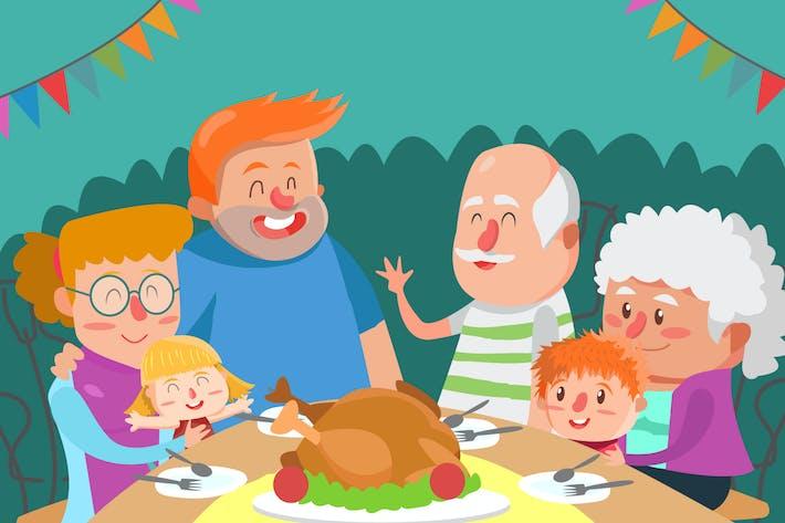 Thumbnail for Большое семейство - Вектор иллюстрация