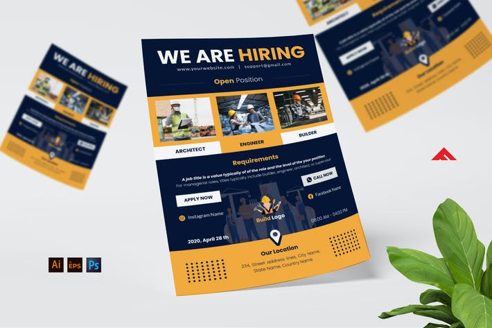 Thumbnail for Architect Job Hiring Flyer Advertisement